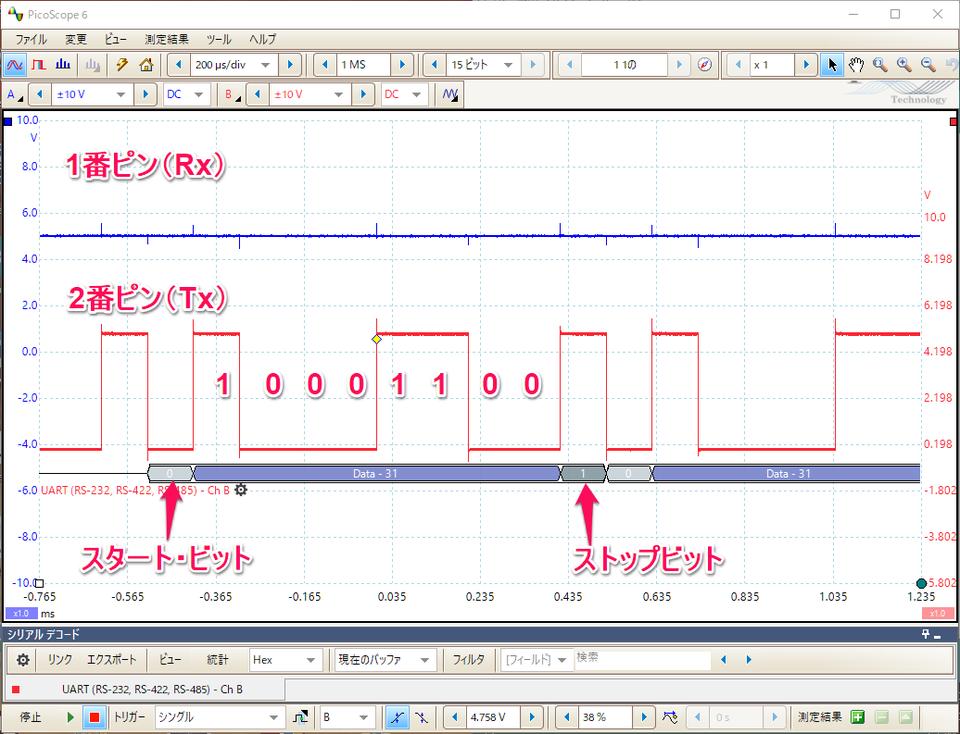 485信号_実験 RS-485 (1) RS-232 - クックブック