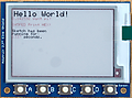 グラフィック・ディスプレイを使う (1) eInkディスプレイの利用 DIY気象ステーション