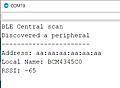 初めてのBLE (12) Raspberry Piでペリフェラル④Nano 33 BLE Senseをセントラルに