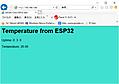 ESP32活用① ESP32とブラウザでお話しする(5)LEDのON/OFFとI2Cの温度センサの測定結果をまとめて表示
