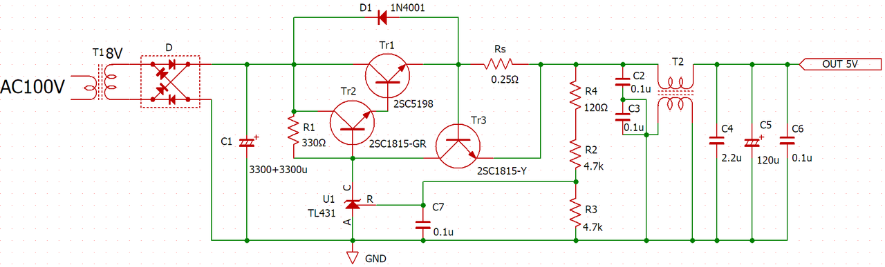 ラズパイ4用アナログ電源の製作 Nch MOSFET ①回路の検討   電子工作の ...