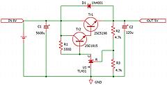 ラズパイ4用アナログ電源の製作②回路を組む