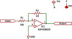 OPアンプで実験(1) 40dBの電圧増幅③レベルシフト