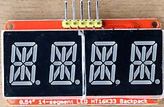 CircuitPython 10行プログラミング (9) 7セグメントLED