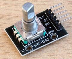 CircuitPython 10行プログラミング (8) ロータリ・エンコーダ
