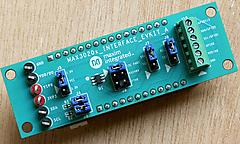 温度センサMAX30208の評価用ボードを動かす
