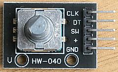 CircuitPython 10行プログラミング Step3 (2) ロータリ・エンコーダ