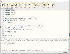 CircuitPython 10行プログラミング Step3 (7) 気圧センサLPS25HB