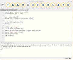 Raspberry Pi 4 + Python3入門 <STEP1> (4) 7セグメントLED 74HC595 その4 BME280をネイティブにアクセス①