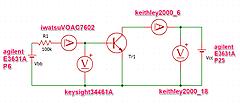 IoTで使うPython入門 Step5-Python3 VISA⑨DMM Keithley 2000 +電源E3631A 中電力トランジスタのVCE-IC特性