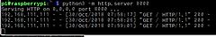 IoTで使うPython入門Step1-I2C LM75Bで温度測定 (6) Web